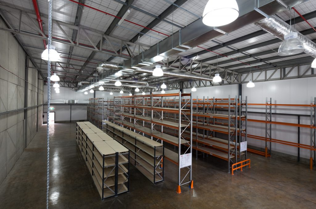 Newly constructed warehouse extension area of Australia Post Dandenong