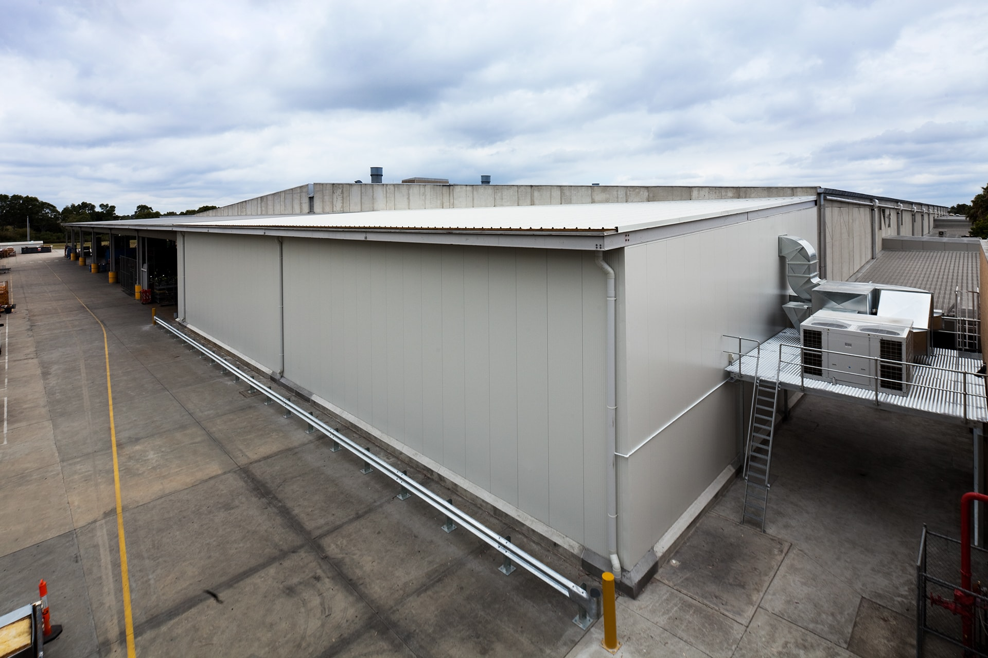 Top view of Australia Post with new mechanical air conditioning unit