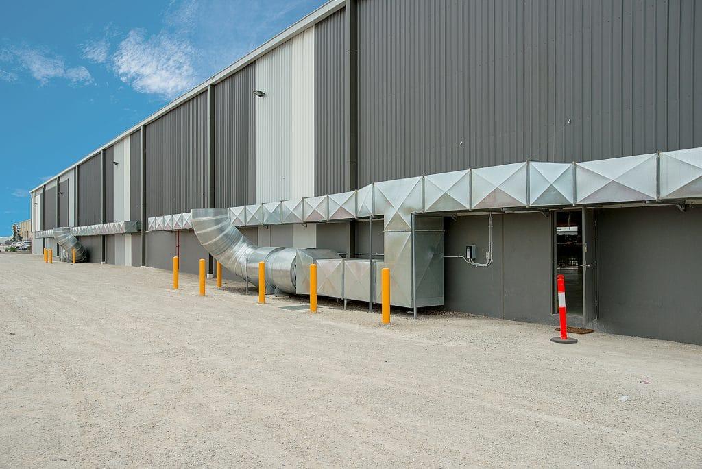Side view of Australia Post Derrimut building