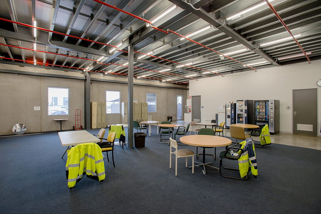 Staff area of Australia Post Derrimut with improvements to the fire system