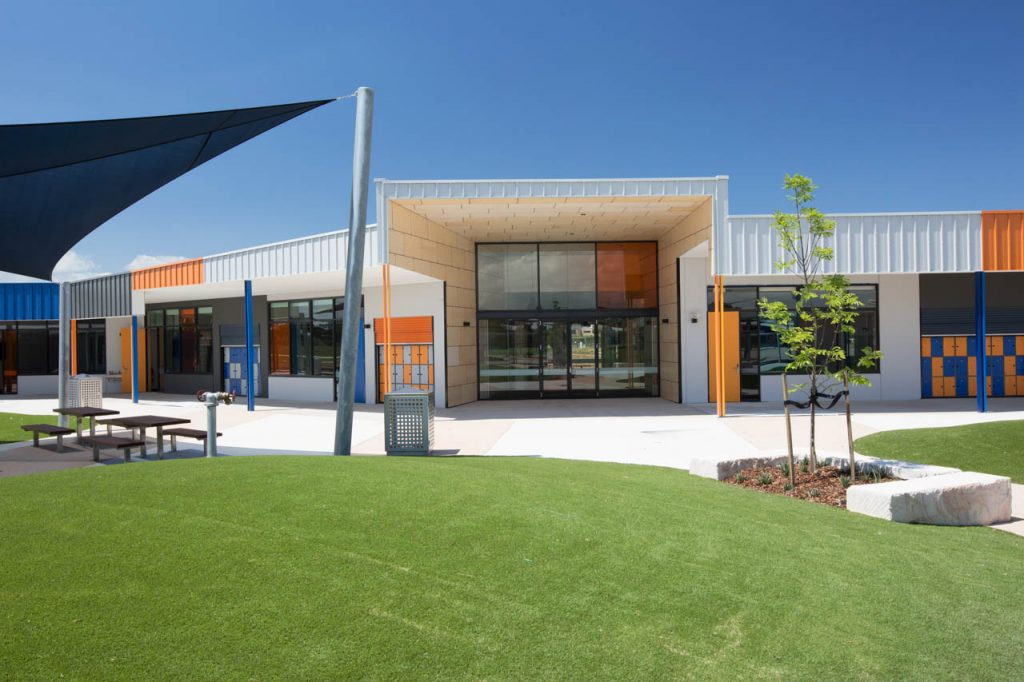 Outside view of both learning centre and associate civil works building