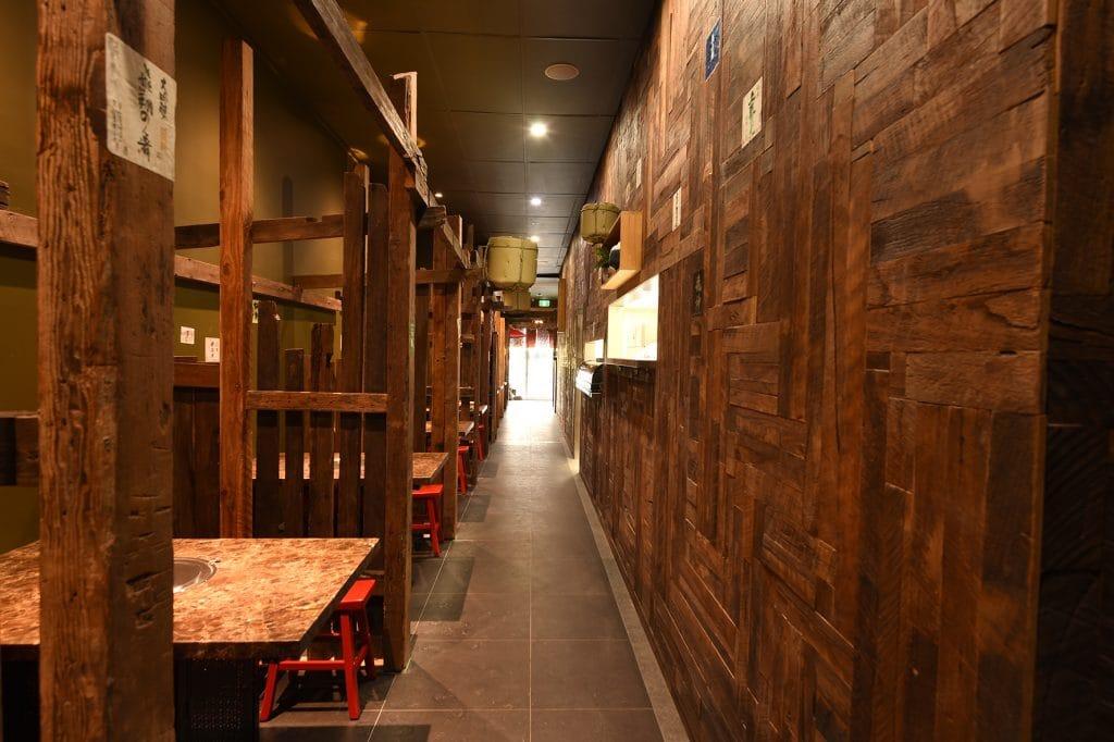 Walkway of Kaiseki Japanese Restaurant