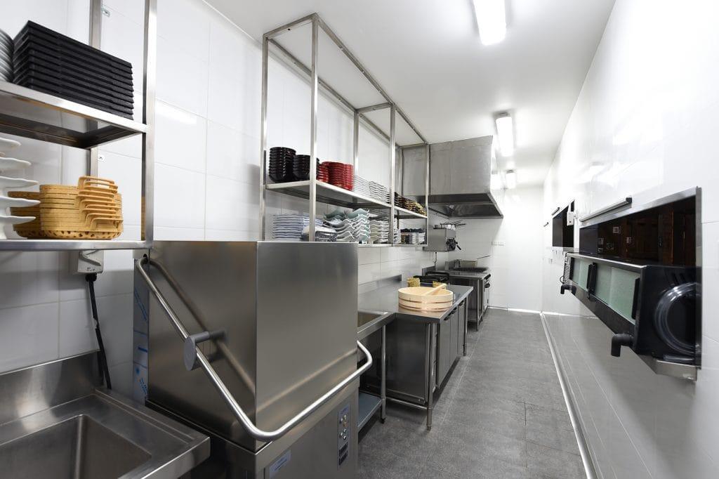 Pristine white and silver kitchen