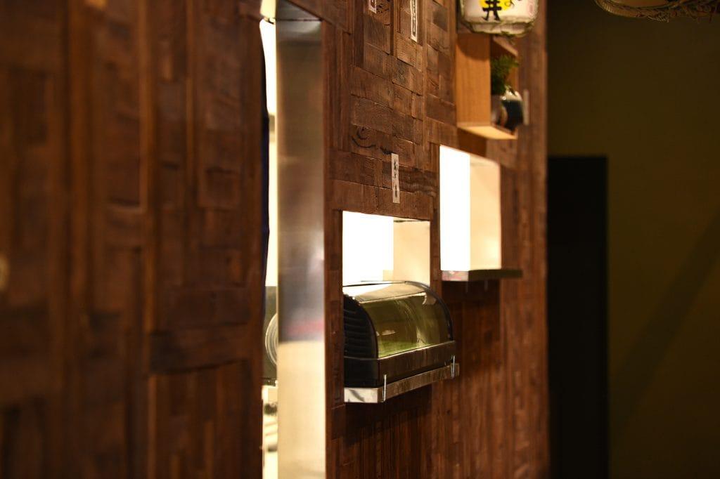Kitchen entrance at Kaiseki Japanese Restaurant