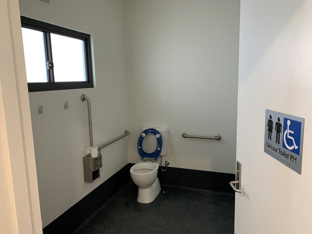 Disabled toilet facility in main security gatehouse