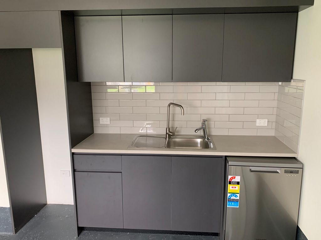 Security gatehouse kitchen