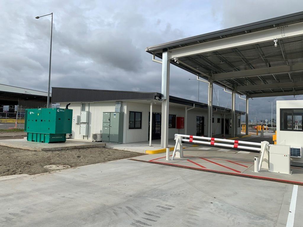 Security gatehouse canopy
