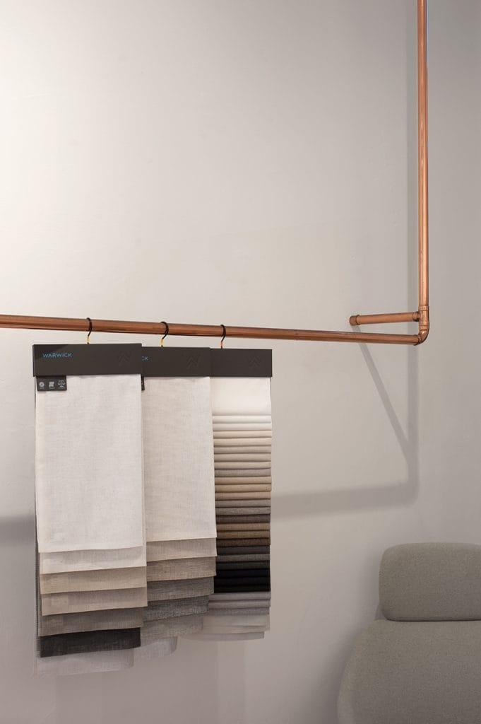 Modern bronze copper towel rack